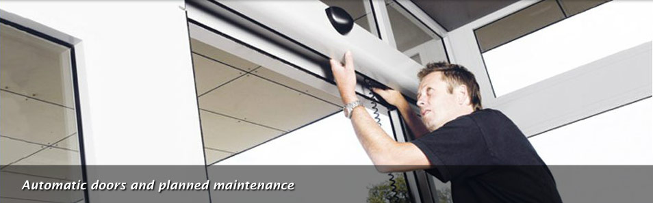 Automatic doors and planned maintenance